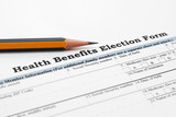 Health benefit election form poster