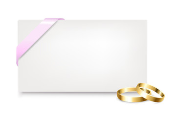 Blank Gift Tag With Wedding Rings