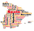 abstract vector map of spain