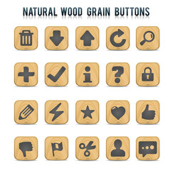 Natural Wood Grain Buttons