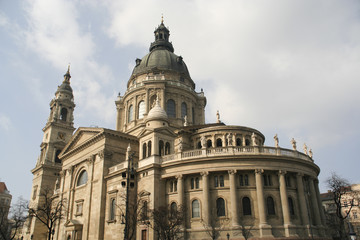 Saint Stephen's Basilica in Budapest, view from the back