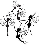 Fairies Silhouettes