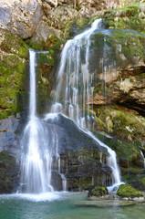 The Virje Waterfall. Bovec, Slovenia