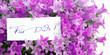 Für Dich! mit lila Blumen