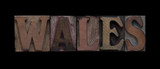 Wales in old wood type
