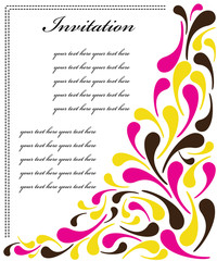 Colorful wedding invitation vector