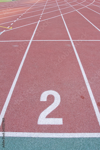 Numbered Running Tracks Of A Stadium