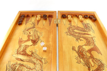 board game a backgammon