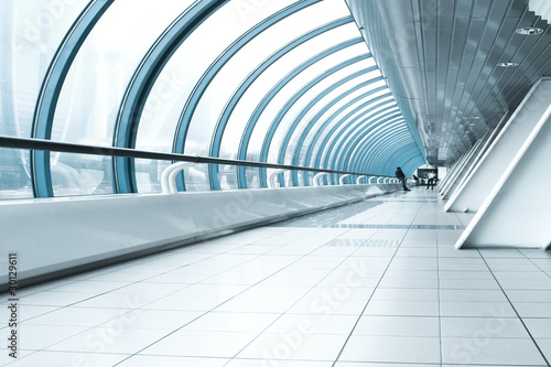 contemporary hallway of airport - 30129611