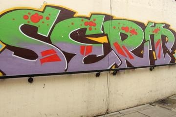 graffiti in a subway