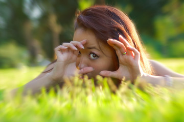Asian womanl in a field