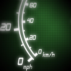 part of futuristic speedometer