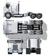 Vector hi-detailed semi-truck
