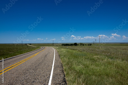 Texas road on the endless prairie