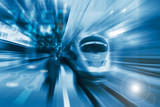 Fototapety The high-speed train background with motion blur