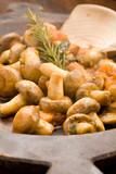 Funghi con pomodoro - Champignons alla contadina poster