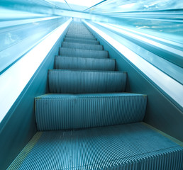 Escalator in Modern Airport