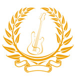 Electro guitar symbol poster