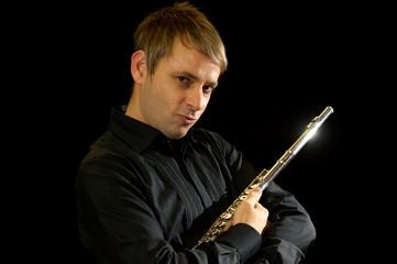 Male flutist