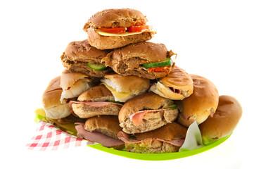Many bread rolls