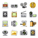 Fototapety Photo & video icons