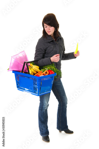 Shopping woman in the supermarket