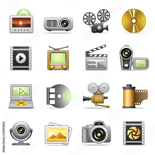 Photo & video icons