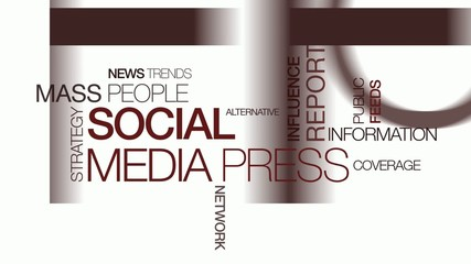 Mass media social network press revolution  tag cloud