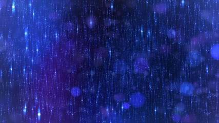 Stars background with flares, Blue. HD 1080. Loop-able.