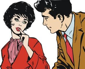 ilustracion con una pareja de enamorados