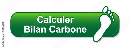Bouton CALCULER BILAN CARBONE (écologie dioxyde CO2)