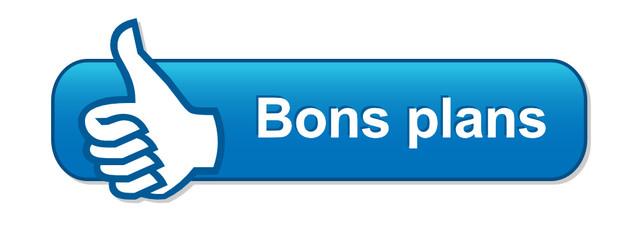 Bouton Web BONS PLANS (bonnes affaires soldes offres prix idées)