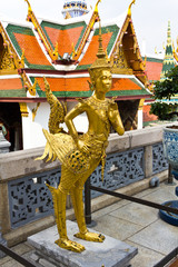 kinaree, a mythology figure in temple Bangkok Thailand