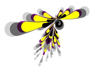 Macchia di colore, base giallo