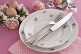 Nostalgic Easter Table Setting poster