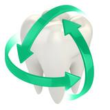 zuby, ochranu 3D koncepční