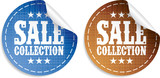 Sale collection tickers set poster