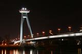 Bratislava Nový most v noci.