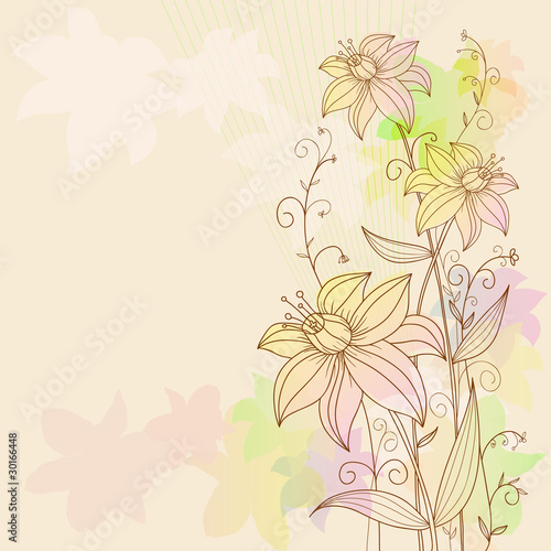 Eps10 floral flowers background