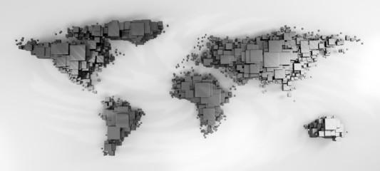 3d world map rendering