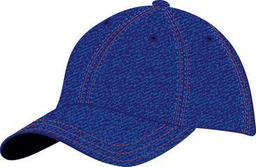 The vector image of a sports headdress from a jeans fabric