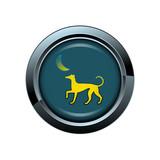 chien animal canin picto bouton icône internet web site symbole poster
