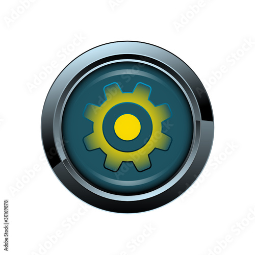 vecteur roue industrie picto bouton icone internet web site symbole