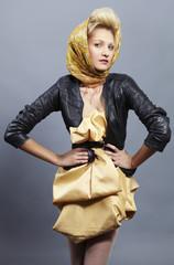 Beauty blond modern slavic style.