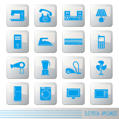 Electrical Appliances Icons Set