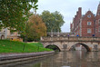 Bridges over Cam river in Cambridge, UK