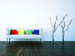 3d Rendering Sofa weiss