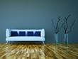 3d Rendering Sofa weiss grau