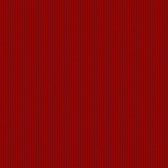 Seamless red wool knitted fabric