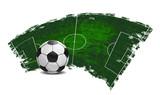 Fototapety Vector football banner
